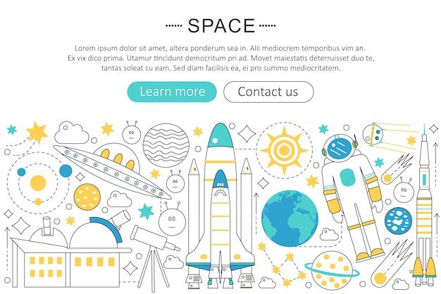 Concepto de tecnología de exploración espacial