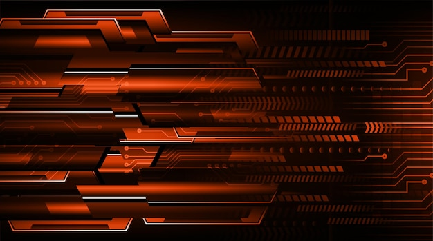 Concepto de tecnología futura del circuito binario cibernético