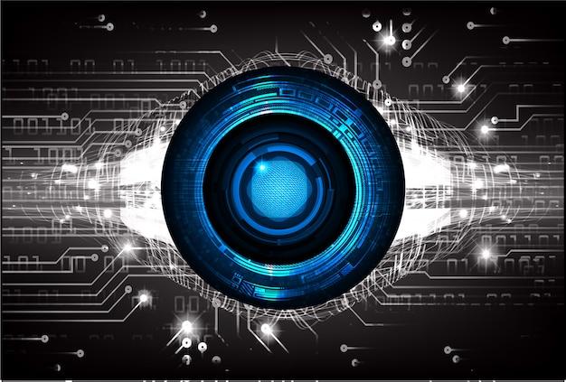 Concepto de tecnología futura del circuito cibernético blue eye