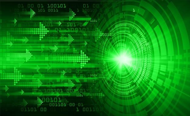 Concepto de tecnología futura del circuito cibernético de flecha