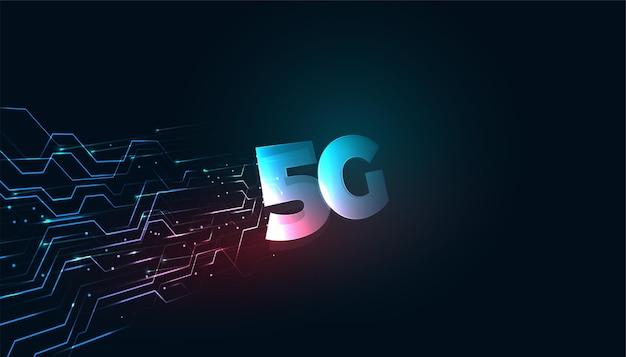 Concepto de tecnología de generación de alta velocidad superrápida