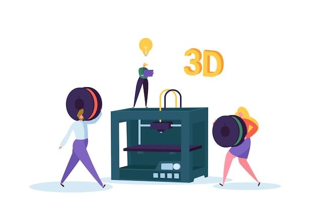 Concepto de tecnología de impresión 3d