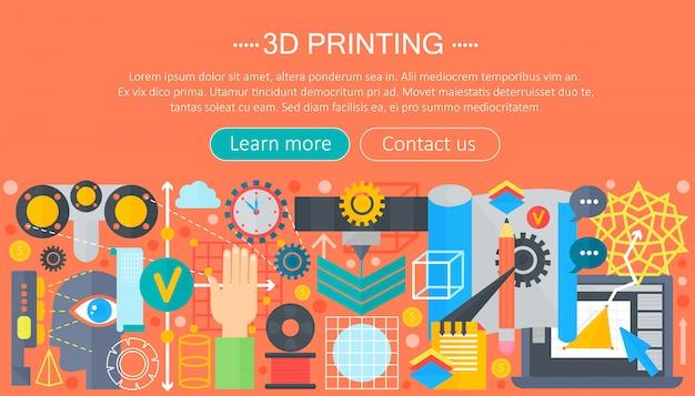 Concepto de tecnología de la impresora 3d