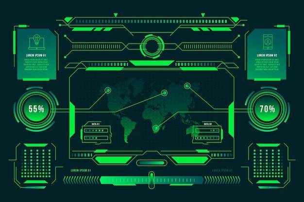 Concepto de tecnología infografía
