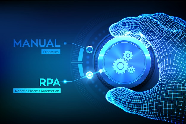 Concepto de tecnología de innovación de automatización de procesos robóticos rpa