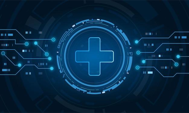 Concepto de tecnología de innovación médica de atención médica