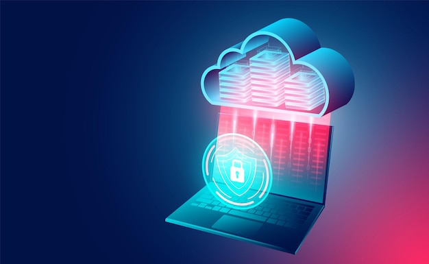 Concepto de tecnología en la nube tecnología informática en línea concepto de procesamiento de flujo de datos grandes