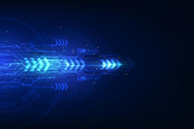 Concepto de tecnología de velocidad abstracta.