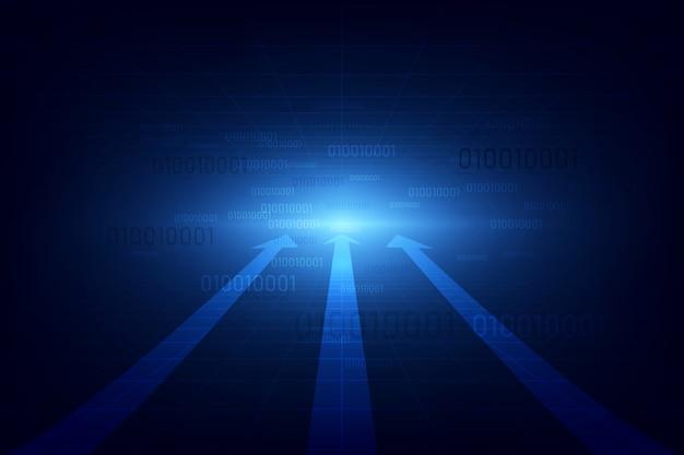 Concepto de tecnología de velocidad abstracta