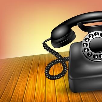 Concepto de teléfono antiguo