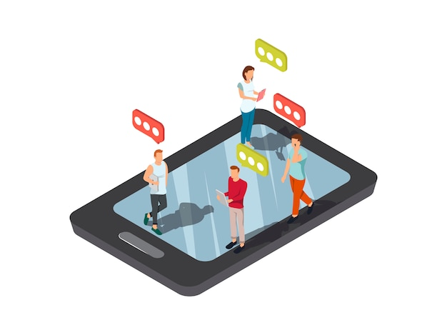 Concepto de teléfono móvil de mensajes de texto móvil
