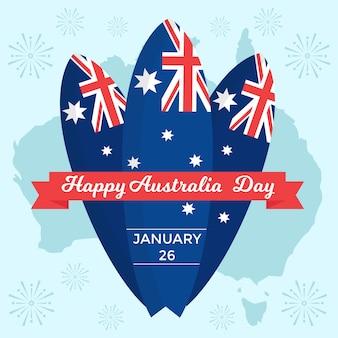Concepto de tema del día nacional de australia