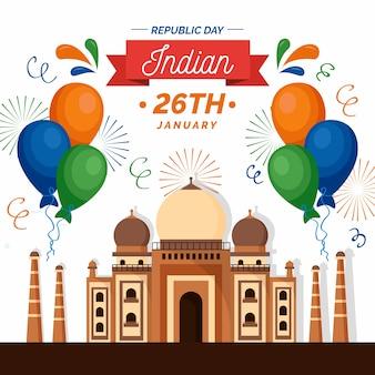 Concepto temático del día de la república india