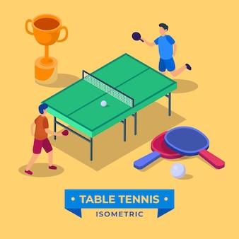 Concepto de tenis de mesa