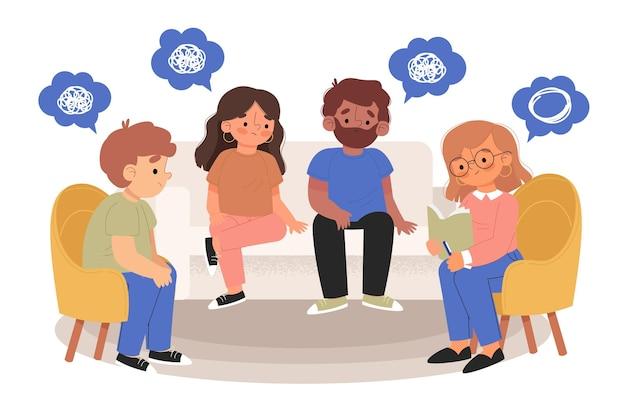 Concepto de terapia de grupo