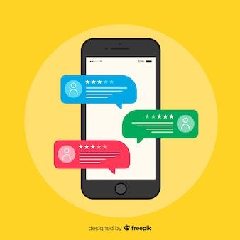 Concepto de testimonial de burbuja de texto