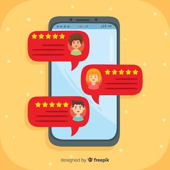 Concepto de testimonial con burbujas de texto