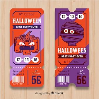 Concepto de tickets modernos de halloween