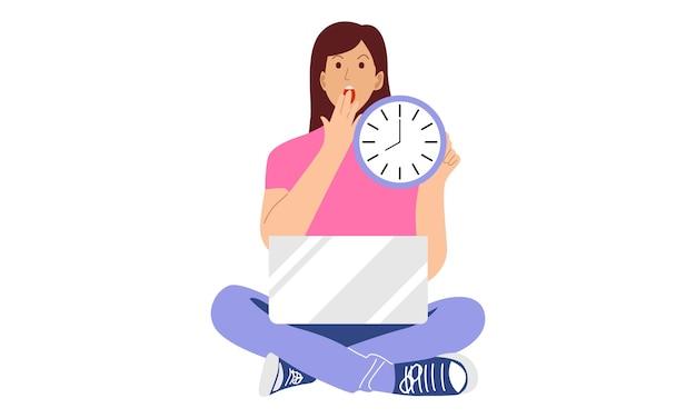Concepto de tiempo, hora y fecha límite