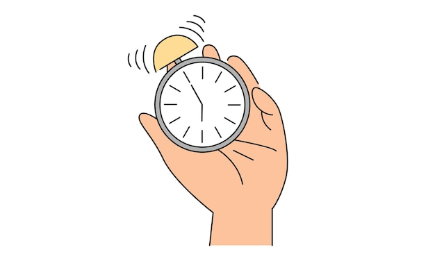 Concepto de tiempo, inicio, urgencia y sueño.