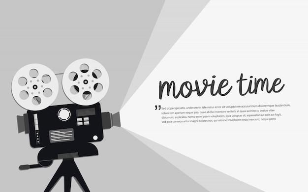 Concepto de tiempo de película.