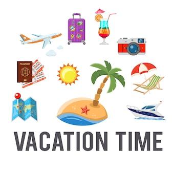 Concepto de tiempo de vacaciones