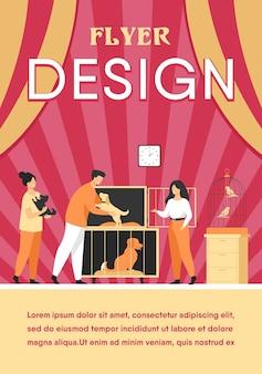 Concepto de tienda de mascotas o refugio de animales.