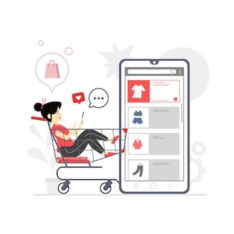 Concepto de tienda online