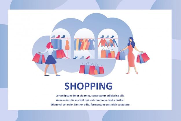 Concepto de tienda de ropa y accesorios de moda