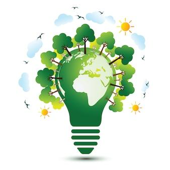 Concepto de tierra verde