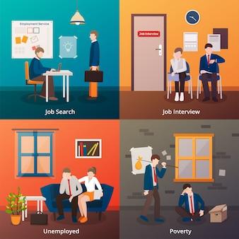 Concepto de trabajadores despedidos