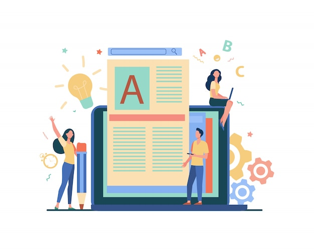 Concepto de trabajo de autor o escritor de contenido