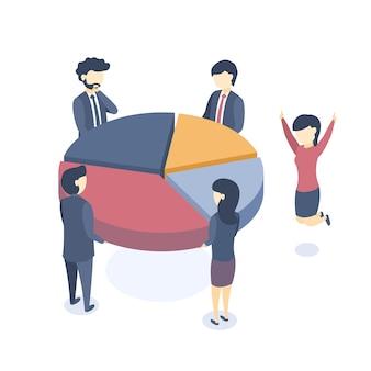 El concepto de trabajo en equipo empresarial.
