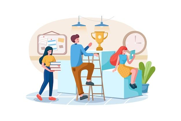 Concepto de trabajo en equipo empresarial