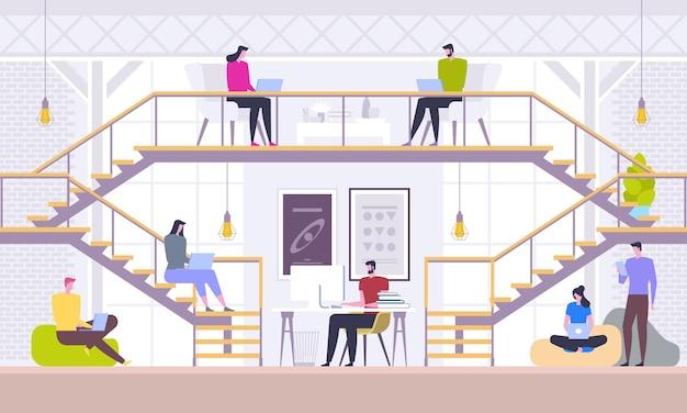 Concepto de trabajo en equipo y red social