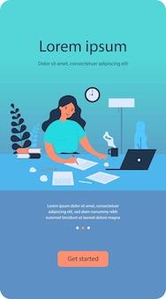 Concepto de trabajo de escritura