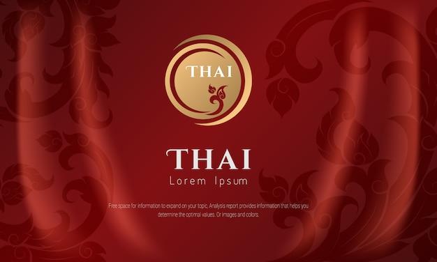 Concepto tradicional del patrón tailandés las artes de tailandia.