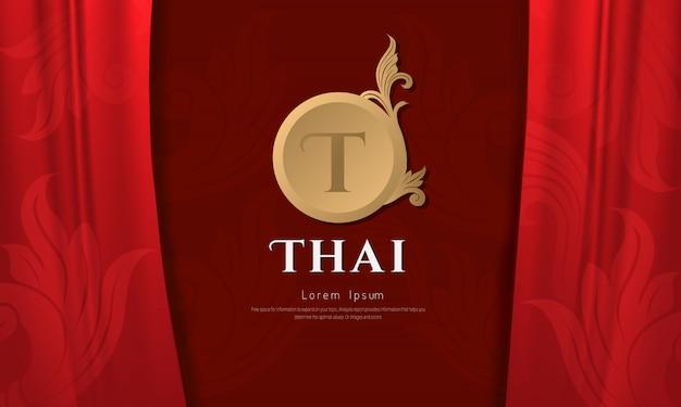 Concepto tradicional de patrón tailandés, las artes de tailandia.