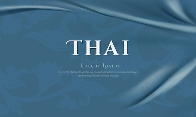 Concepto tradicional de patrón tailandés, diseño de arte tradicional asiático. ilustración vectorial