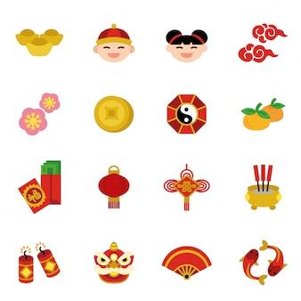 Concepto de tradiciones de vacaciones de año nuevo chino