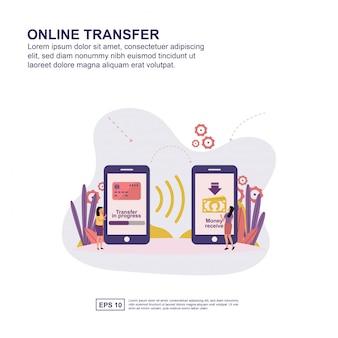Concepto de transferencia en línea