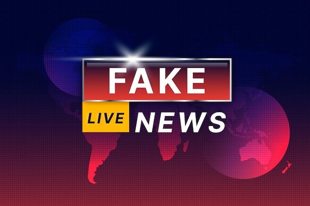 Concepto de transmisión de noticias falsas