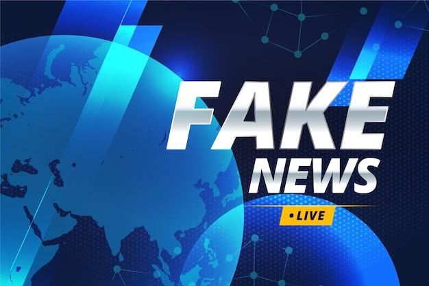 Concepto de transmisión en vivo de noticias falsas