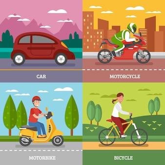 Concepto de transporte personal