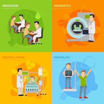 Concepto de tratamiento hospitalario