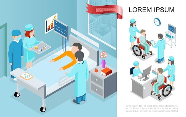 Concepto de tratamiento médico isométrico