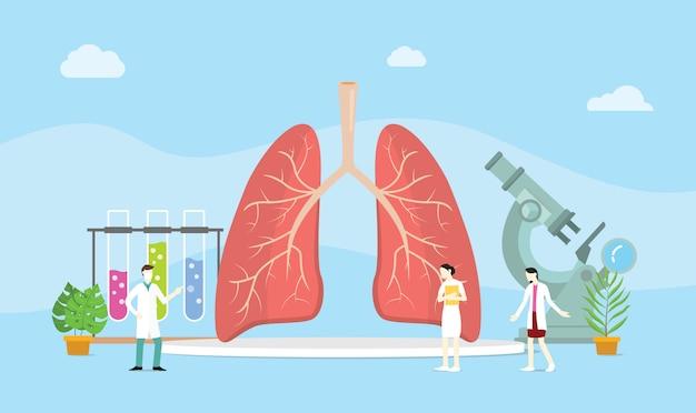 Concepto de tratamiento sano del pulmón mangement