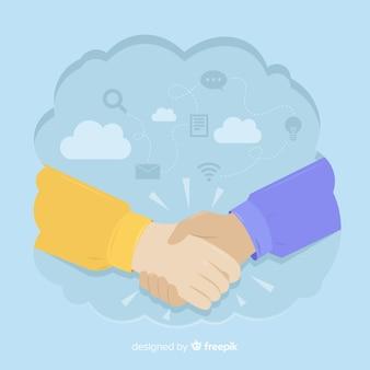 Concepto de trato de negocios dibujado a mano