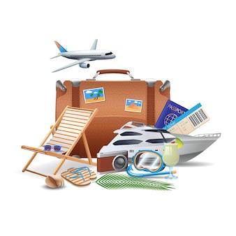 Concepto de turismo y viajes.