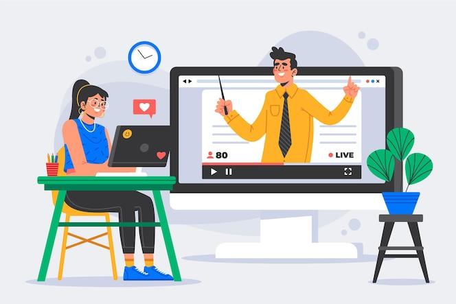 Concepto de tutoriales en línea
